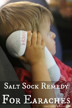 Natural skin tips home remedies Salt Sock Natural Home Remedy for Earaches; The season of ear infections is almost upon us. Relieve otitis symptoms and inflammation naturally! Home Remedies For Earache, Cold Remedies, Natural Health Remedies, Natural Cures, Herbal Remedies, Natural Healing, Natural Beauty, Natural Oil, Natural Treatments