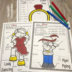 Christmas Color By Number Twelve Days of Christmas Addition & Subtraction Bundle Subtraction Activities, Addition Activities, Christmas Color By Number, Christmas Colors, Christmas Math, Twelve Days Of Christmas, Number Worksheets, Addition And Subtraction, Fun Math