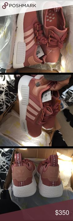 BABY PINK NMDS ADIDAS size 5, never worn, box damaged but shoes are perfect. no trades Adidas Shoes Athletic Shoes