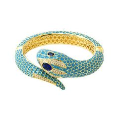 Snake Cuff Turquoise, $280, now featured on Fab.