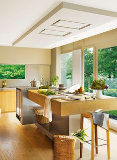 Kitchen with sleek modern lines