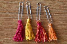 Tassel paperclip set for journals or by EmsCraftyGoodness on Etsy