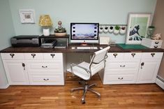 Love this Ikea Hack. Recently saw this exact design done beautifully in someone's home! Custom Command Center - IKEA Hackers
