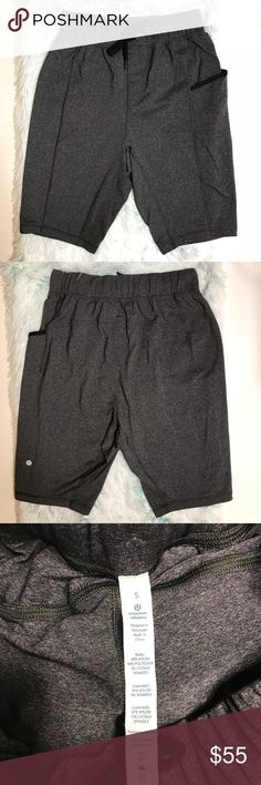 Lululemon Men's Grey Shorts Size S Excellent condition, like new. All offers welcome! 💕 lululemon athletica Shorts Athletic