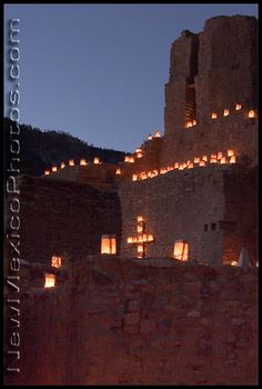 Jemez State Monument, with 1600 luminarias