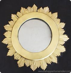 sunburst mirror inspired by ballard and made from popsicle sticks