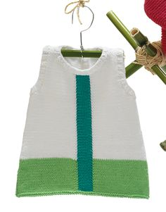 Book Baby 68 Spring / Summer | 43: Baby Dress | White / Emerald / Green
