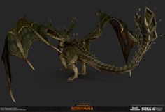 ArtStation - Total War: Warhammer- Forest Dragon, Matthew Davis