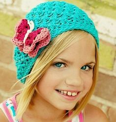 Crochet Slouch Hat Set - Headband with Butterfly Clip - Photo Prop $34.00 #etsy