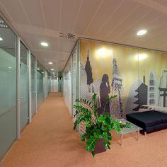Hall 3ª planta. CINC, Centro de negocios en Barcelona.