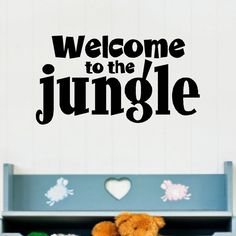 Welcome to the Jungle Wall Quote Words Sayings Removable Lettering