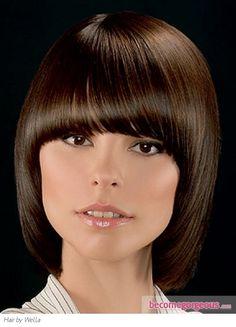 Glossy Medium Bob Hair Style