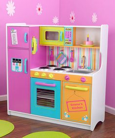Take a look at this Deluxe Big & Bright Personalized Kitchen  by KidKraft on #zulily today!