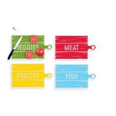 Kit Laminas / Tábuas de Cortar R$59 Medidas : 43 X 25 cm cada  4 laminas resistentes a odor, cada uma para um tipo de comida. Carne, Peixe , Frango e vegetais  Nao escorrega