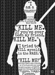 - The Maze Runner Series: The Death Cure by James Dashner Maze Runner Thomas, Newt Maze Runner, Saga Maze Runner, Maze Runner Quotes, Maze Runner Funny, Maze Runner Trilogy, Maze Runner Movie, Movies And Series, Book Series