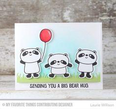card critters bear panda MFT happy pandas Die-namics balloon balloons grass border Die-namics #mftstamps