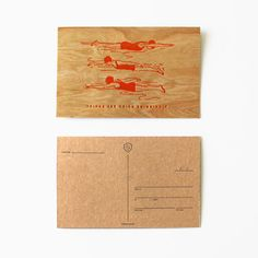 Things Are Going Swimmingly- Wooden Postcard Set by Sideshow Press | at Amelia