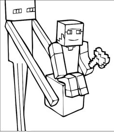 minecraft coloring pages for kids 11 color pages Pinterest