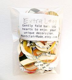 Vintage Paper Heart Garland | Collections Wedding | Montclair Made | Scoutmob Shoppe | Product Detail