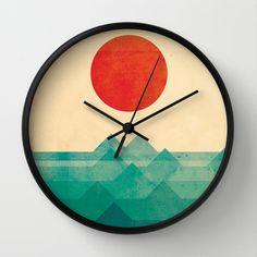 The ocean, the sea, the wave Wall Clock by Budi Satria Kwan - $30.00