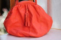 Vintage Handbags - orange, tassel, genie