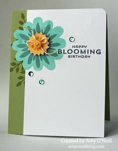 Stampin' Up! Flower Patch, Flower Fair framelits, photopolymer, Another Blooming Birthday