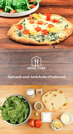 If you've been to or hosted a dinner party in the last, oh, half-century, then there's a 100% chance that spinach and artichoke dip was served. That delicious concoction bound together with cream cheese and served with vegetables or little bread slices is as ubiquitous as it is addicting. So we thought, why not graduate it from appetizer to entree? That's exactly what we did by spreading the dip on crisp naan flatbread, and topping the whole thing off with fresh Roma tomato, roasted…