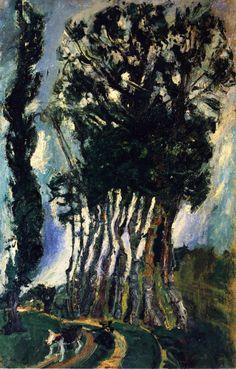 Chaim Soutine - Champigny Landscape c.1943