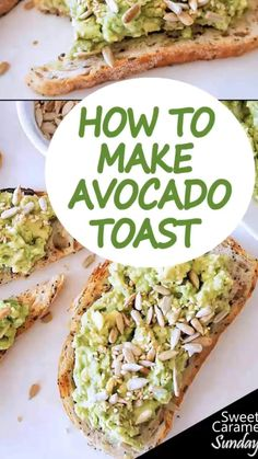 Avocado Toast is an easy breakfast recipe that is healthy and delicious. Here is how to make it with simple steps. Brunch Recipes, Breakfast Recipes, Dinner Recipes, Vegan Breakfast, Drink Recipes, Avocado Recipes, Vegan Recipes, Salmon Recipes, Delicious Recipes