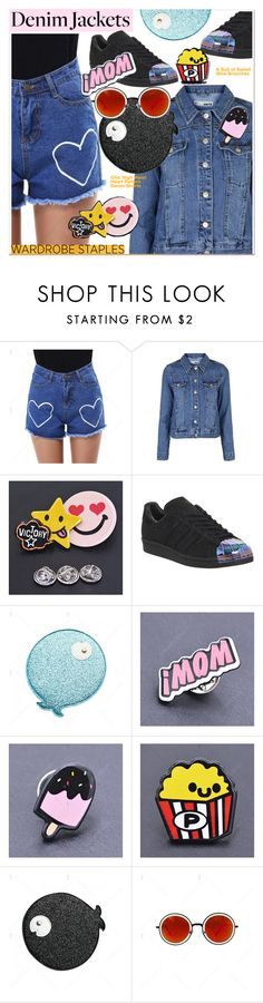"""""""Wardrobe Staple: Denim Jackets"""" by paculi ❤ liked on Polyvore featuring Topshop, adidas, denimjackets and WardrobeStaples"""