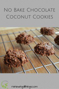 Raw No Bake Chocolate Coconut Cookies- vegan, paleo, and sugar free