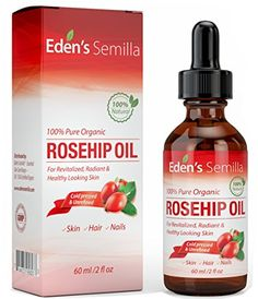 Pure Rosehip Oil - 2 OZ - Certified ORGANIC - Cold pressed & unrefined - NON Greasy HIGH absorbency - Use daily - Anti ageing, nourishes, hydrates and visibly reduces fine lines, scars, stretch marks and skin pigmentations - Suitable for all skin type Rosehip Oil For Skin, Organic Rosehip Oil, Organic Oil, Organic Skin Care, Best Face Products, Pure Products, Anti Aging, Anti Inflammatory Recipes, Prevent Wrinkles