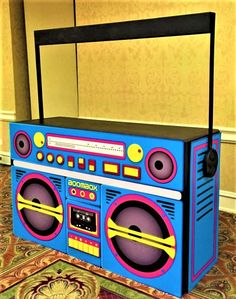 1990's Ghetto Blaster Party Fiesta, Neon Party, Disco Party, Retro Party, 80s Party Decorations, Party Themes, Party Ideas, 80s Birthday Parties, 30th Birthday