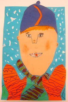 Mrs. Morehead's Gallery - Cherokee School Art Class - Winter Portrait