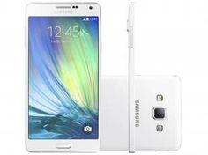 "Smartphone Samsung Galaxy A7 Duos Dual Chip 4G - Android 4.4 Câm. 13MP Tela 5.5"" Proc. Octa Core"