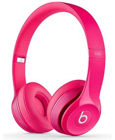 Beats Solo 2 On-Ear Headphones - Pink Beats Solo, Beats By Dre, Cute Headphones, Bluetooth Headphones, Sports Headphones, Cheap Beats, Tablet, Tech Accessories, Electronics Accessories
