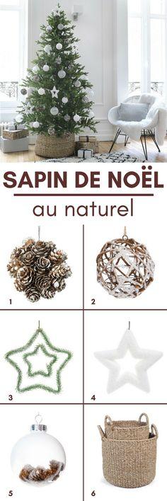 """Un sapin de Noël au naturel ! Ambiance de Noël """"white"""" et nature..."""