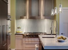 green kitchen contemporary range hood pale green kitchen kitchen tile backsplash ideas pictures tips hgtv kitchen