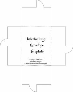 interlocking envelope template from ruthann at mirkwood designs