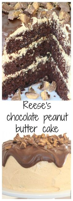 Reese's Chocolate Peanut Butter Cake - Sincerely Jean