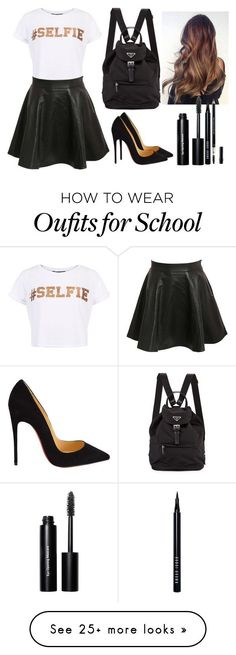 """""""School"""" by ashtonirwin1234 on Polyvore featuring Pilot, Christian Louboutin, Bobbi Brown Cosmetics, Christian Dior, women's clothing, women, female, woman, misses and juniors"""