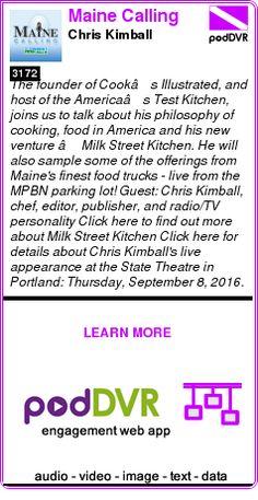 #UNCAT #PODCAST  Maine Calling    Chris Kimball    LISTEN...  https://podDVR.COM/?c=ed2799d5-d877-cc8b-5968-4bea761f2375