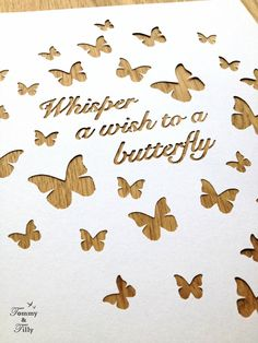 TEMPLATE 'Whisper a wish to a butterfly' by TommyandTillyDesign