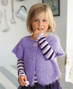 Bergere de France Childrens Knitting Patterns Sleeveless Gilet Knitting Pattern