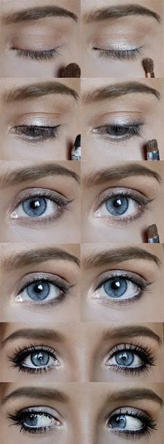 use brown eyeliner for a more natural look*   best stuff