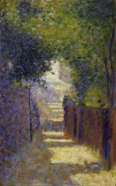The Rue St Vincent, Paris in Spring, c.1884. Georges Pierre Seurat, 2 December 1859 – 29 March 1891.