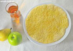 Złociste chrupiące naleśniki (Tschur Tschut albo Tschur Tschot) przygotowywane z ciasta z mąki ryżowej to tradycyjne danie śniadaniowe kuchni kaszmirskiej. Te ryżowe naleśniki tradycyjnie podawane są w towarzystwiekehwa (również kahwa) - posłodzonej miode Early Morning, Cornbread, Eat, Ethnic Recipes, Food, Millet Bread, Essen, Meals, Yemek