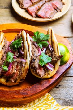 Wrap grilled flank steak in naan for an Indian spin on tacos.