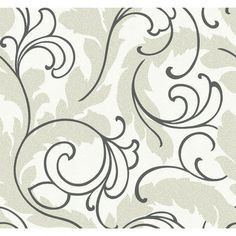 "Wallpapher 27' x 27"" Serpentine Scroll Roll Wallpaper 