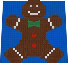 Christmas - Gingerbread Man LEGO(r) Mosaic Design - Brick Art Maker